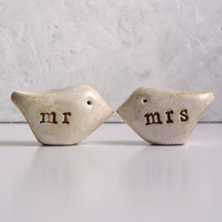 Love birds mr and mrs by SkyeArt on Etsy