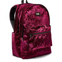 Velvet Campus Backpack - PINK - Victoria's Secret