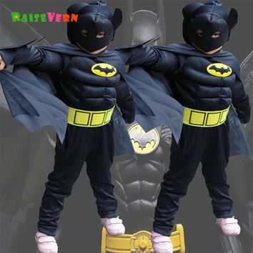 Halloween Superhero Spiderman Children Superman Boy Anime Performance Clothes Suit Kids Party Carnival Cosplay Batman Costume