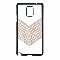 White Geometric Minimalist With Wood Grain Samsung Galaxy Note 4 Case