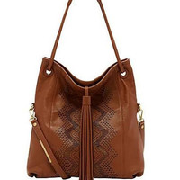 Ella Moss Brown Chandelier Hobo Handbag