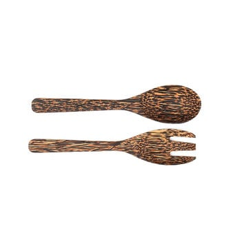 Fork And Spoon Set Made 100% Coconut Wooden Nature Handmade
