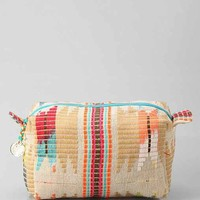 Woven Jute Dopp Makeup Bag- Assorted One