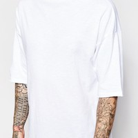 ASOS | ASOS Oversized T-Shirt With Raw Edge Turtleneck at ASOS