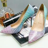 Christian Louboutin 2018 counter new women's high-quality high-end high-heeled shoes F-OMDP-GD