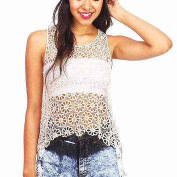 Wall Flower Lace Top