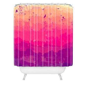 Rebecca Allen A Study In Purple Shower Curtain