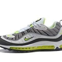 "Supreme x NikeLab Air Max 98 ""White&Gery&Black Green"" Men Sneaker"