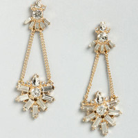 Nobility Time Rhinestone Dangle Earrings
