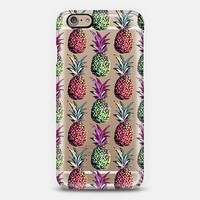 Party Pineapple Pattern Transparent iPhone 6 case by Organic Saturation | Casetify