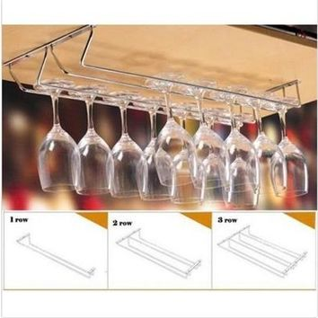 NEW Wine Glass Rack Cabinet Stand Home Dining Bar Tool Shelf Holder Hanger (Size: 1, Color: Multicolor) wcc