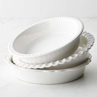 Williams-Sonoma Stoneware Pie Dish, Set of 3