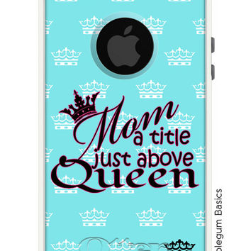 OTTERBOX Commuter iPhone 5 5S 5C 4/4s Samsung Galaxy S3 S4 S5 Note 2 3 Case Queen Mom Mother Crown Princess design Fashion Series Collection