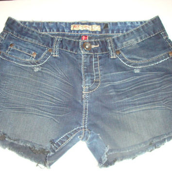 BKE  Brie low rise cut off women distressed denim frayed hem jean shorts SIZE 29
