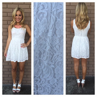 White Jaynie Lace Sleeveless Dress