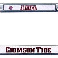 Alabama Crimson Tide Chrome License Plate Frame | Alabama License Plate Frame | Alabama Auto Tag Frame