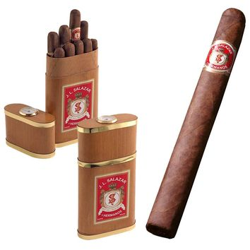 J.L. Salazar y Hermanos Churchill Cigar Gift Set 10 Cigars in Cedar Travel Humidor Case
