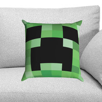 Minecraft Creeper Custom Pillow Case for One Side and Two Side