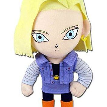 "GE Animation GE- 52719 Dragon Ball Z 8"" Android #18 Blonde Hair Stuffed Plush"