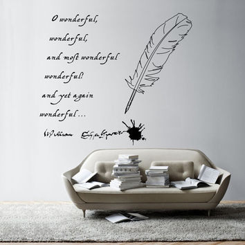 William Shakespeare's Quote vinyl wall decal - removable lettering wall decal