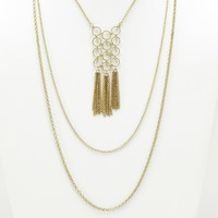 Hanging With Chains Layered & Tassel Necklace
