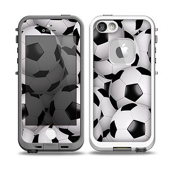 The Soccer Ball Overlay Skin for the iPhone 5-5s fre LifeProof Case