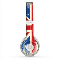 The Grunge Vintage Textured London England Flag Skin for the Beats by Dre Solo 2 Headphones