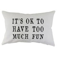 "The Vintage House by Park B. Smith® ""OK Fun"" Oblong Throw Pillow"