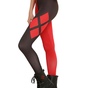 DC Comics Harley Quinn Cosplay Leggings