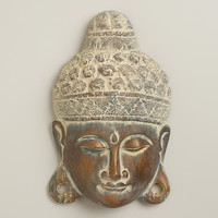 Wood Buddha Mask Decor - World Market