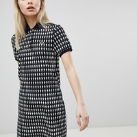 Fred Perry Mint Designs Doll Print Polo Shirt Dress at asos.com