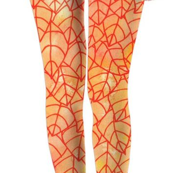 Autumn foliage Leggings