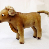 Vintage Steiff Rare German Bessy Cow Toy