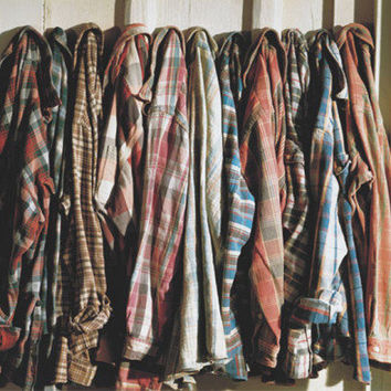 Mystery Vintage Grunge Tumblr Flannel, Surprise Plaid Shirt, Grab Bag Checkered Shirt, Lumberjack Button Up