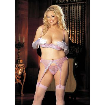 Shirley of Hollywood DS-IA-X331 Scalloped embroidery shelf Bra