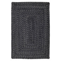 Black Braided Indoor/Outdoor Ultra Durable Rectangle Rug