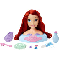 Disney Princess Ariel Little Mermaid Bath Time Hair Styling Head Doll