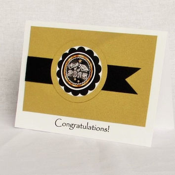 Congratulations Card - Gold Chalkboard Graduation
