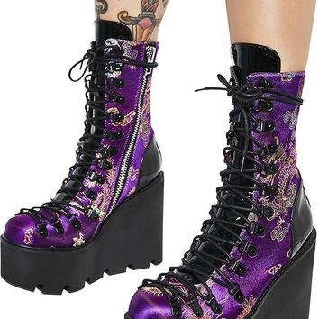 Dynasty Brocade | PLATFORM BOOTS [IN STOCK]