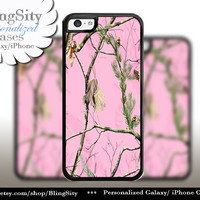 Pink Camo iPhone 5C 6 6 Plus Case Camo iPhone 5s 4 case Ipod Real Tree Personalized Country Inspired Girl Monogram
