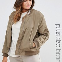 Alice & You | Alice & You Satin Bomber Jacket With Contrast Lining at ASOS