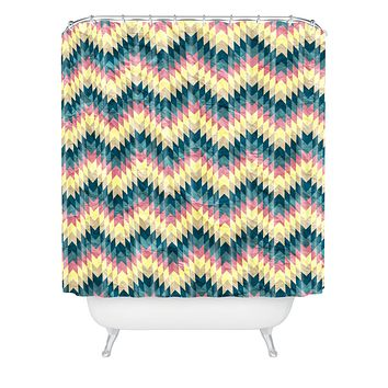 Belle13 Crazy Chevron Shower Curtain