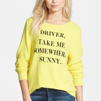 Women's Wildfox 'Somewhere Sunny' Sweatshirt,