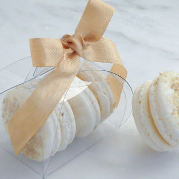 French Macaron Wedding Favor Baptism Communion Favor Box and (2) French Macaroon