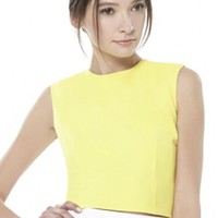 alice + olivia | KYLNN FITTED TOP