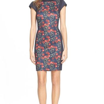 Women's Ted Baker London 'Luski' Cherry Print Body-Con Dress,