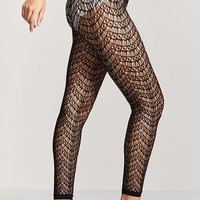 Footless Geo Cutout Tights