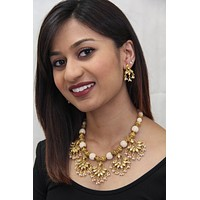 Indian Traditional Style Pearl Kundan Necklace