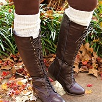 Lace Me Up Riding Boots - Brown