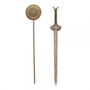 Wonder Woman Sword + Shield Hair Stick Set